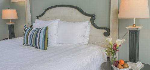 Pacific Room's bed