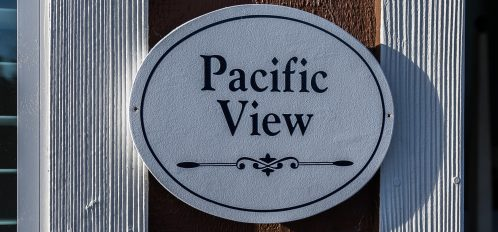 Pacific View Sign