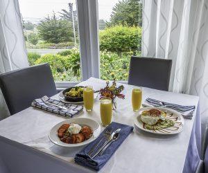 mendocino restaurant, breakfast with view